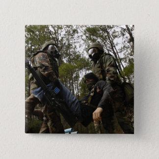 Badge Carré 5 Cm Les aviateurs de l'Armée de l'Air d'USA portent un
