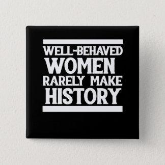 Badge Carré 5 Cm Les femmes bien comportées font rarement