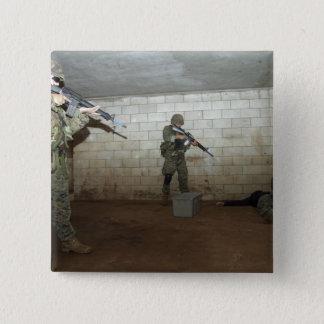 Badge Carré 5 Cm Les marines maintiennent un instructeur de SASO