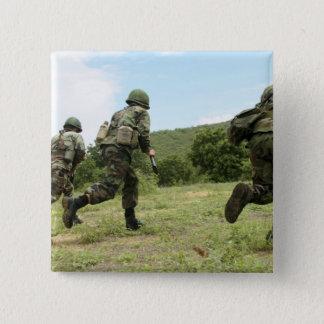 Badge Carré 5 Cm Les marines thaïlandaises royales se précipitent