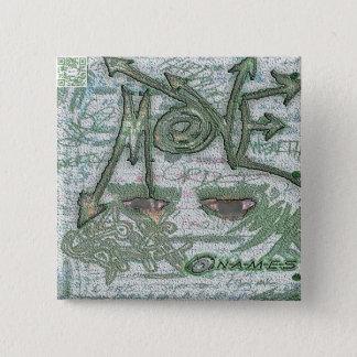 Badge Carré 5 Cm Les NOMS déplacent le bouton commémoratif