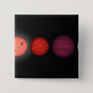 Badge Carré 5 Cm L'interprétation d'un artiste comparant les nains