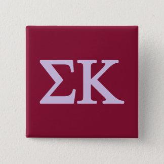 Badge Carré 5 Cm Logo de Lil de Kappa de sigma grand