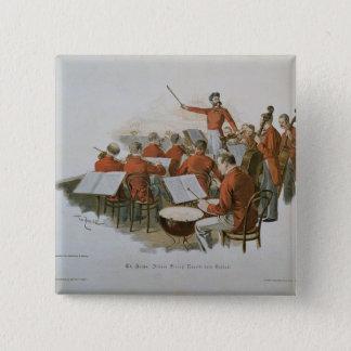 Badge Carré 5 Cm L'orchestre de Johann Strauss à une boule de cour