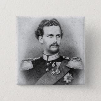 Badge Carré 5 Cm Ludwig II de la Bavière