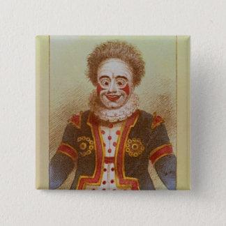 Badge Carré 5 Cm M. Grimaldi comme clown