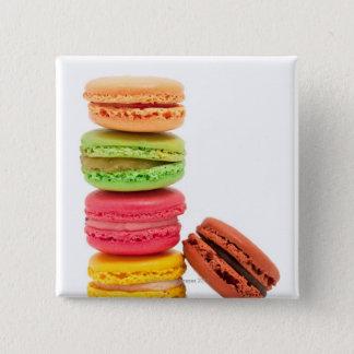 Badge Carré 5 Cm Macarons français