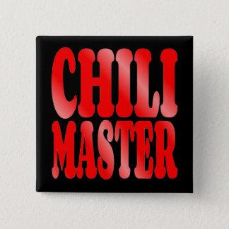Badge Carré 5 Cm Maître de piment en rouge
