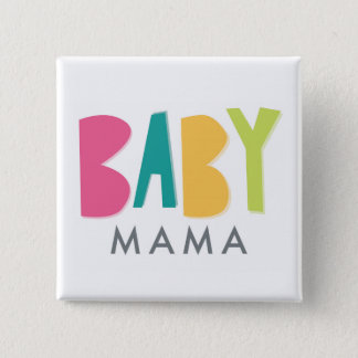 Badge Carré 5 Cm Maman audacieuse Button de bébé
