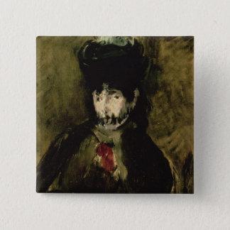 Badge Carré 5 Cm Manet   Berthe Morisot portant un voile, 1872