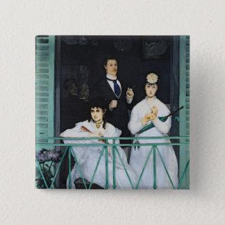 Badge Carré 5 Cm Manet   le balcon, 1868-9