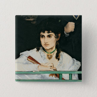 Badge Carré 5 Cm Manet   le balcon, détail, 1868-9