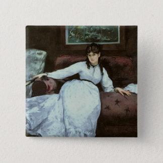Badge Carré 5 Cm Manet | le repos, portrait de Berthe Morisot