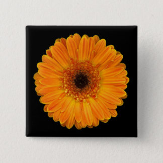 Badge Carré 5 Cm Marguerite de Gerbera