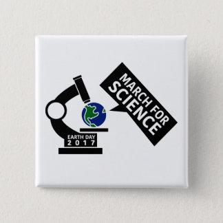 Badge Carré 5 Cm Mars officieux pour le bouton de la Science
