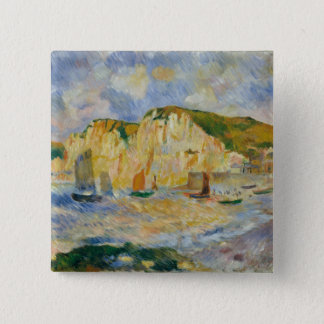 Badge Carré 5 Cm Mer et falaises