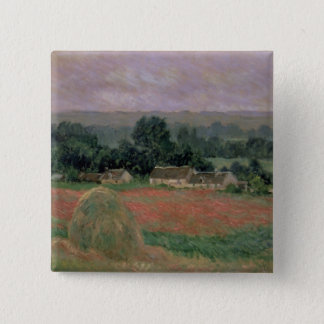 Badge Carré 5 Cm Meule de foin de Claude Monet | chez Giverny, 1886