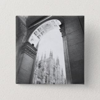 Badge Carré 5 Cm Milan Italie, vue de puits du Duomo