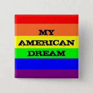 Badge Carré 5 Cm Mon rêve américain