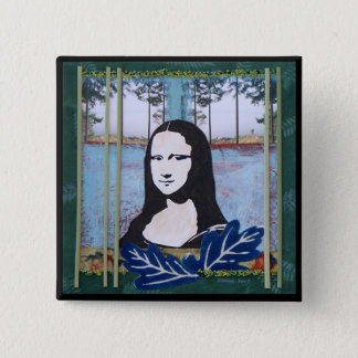Badge Carré 5 Cm Mona Lisa dans le pays