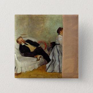 Badge Carré 5 Cm Monsieur et Madame Edouard Manet d'Edgar Degas |