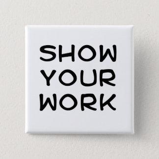 Badge Carré 5 Cm Montrez votre travail