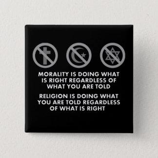 Badge Carré 5 Cm Moralité et religion