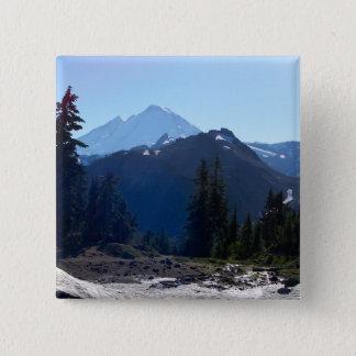 Badge Carré 5 Cm Mt. Baker de point d'artiste
