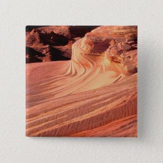 Badge Carré 5 Cm Na, Etats-Unis, Utah, falaises vermeilles. Butte