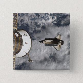 Badge Carré 5 Cm Navette spatiale l'Atlantide 3