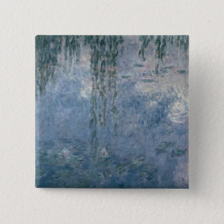 Badge Carré 5 Cm Nénuphars de Claude Monet | : Saules pleurants,