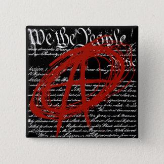 Badge Carré 5 Cm Nous les personnes : Anarchie