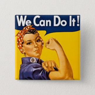 Badge Carré 5 Cm Nous pouvons le faire ! Rosie le cru 2ÈME GUERRE