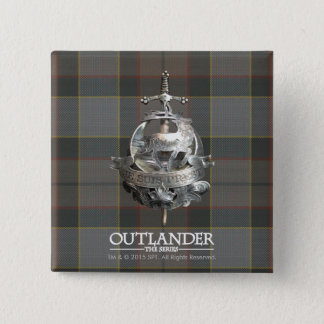 Badge Carré 5 Cm Outlander | la broche de Fraser
