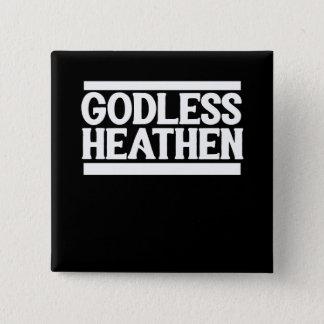 Badge Carré 5 Cm Païen athée