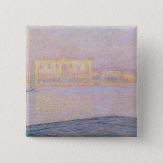 Badge Carré 5 Cm Palais ducal de Claude Monet | de San Giorgio,