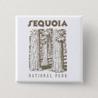Badge Carré 5 Cm Parc national de séquoia