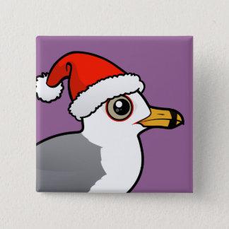 Badge Carré 5 Cm Père Noël Anneau-a affiché la mouette