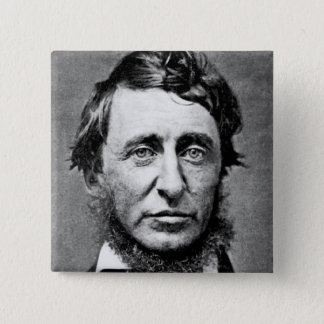 Badge Carré 5 Cm Photographie de portrait de Henry David Thoreau