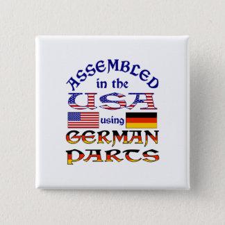 Badge Carré 5 Cm Pièces allemandes