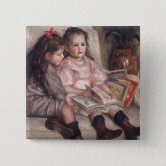 Badge Carré 5 Cm Pierre enfants de Renoir un | de Caillebotte