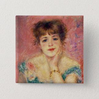 Badge Carré 5 Cm Pierre un portrait de Renoir | de Jeanne Samary