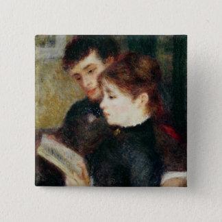 Badge Carré 5 Cm Pierre une lecture de couples de Renoir |