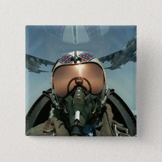 Badge Carré 5 Cm Pilote de l'Armée de l'Air