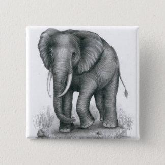 Badge Carré 5 Cm Pin d'éléphant par Vannak Anan Prum
