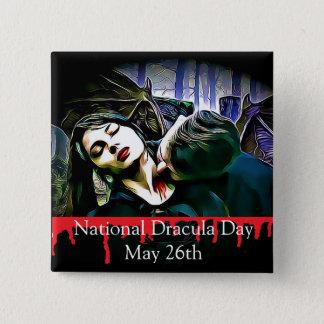 Badge Carré 5 Cm Pin étrange de vacances Dracula jour du 26 mai
