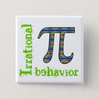 Badge Carré 5 Cm Pin irrationnel de comportement de symbole de pi