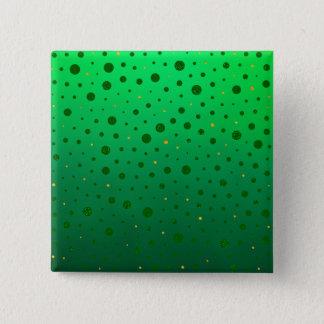 Badge Carré 5 Cm Points élégants - or vert - le jour de St Patrick