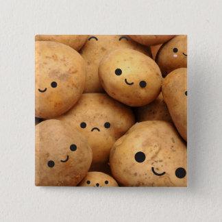 Badge Carré 5 Cm Pommes de terre