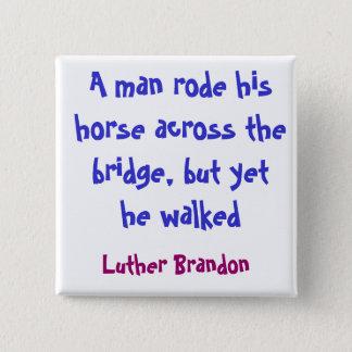 Badge Carré 5 Cm Pont de cheval
